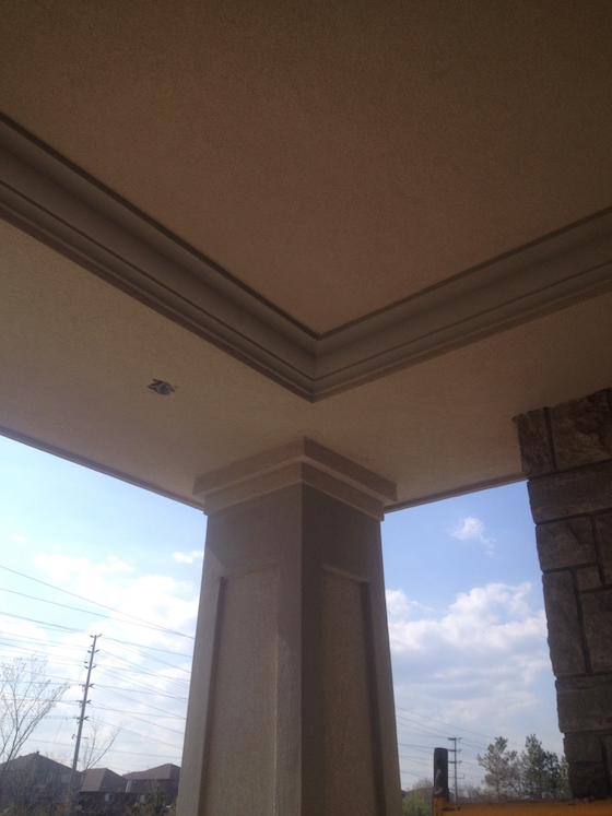EIFS exterior stucco moulding painting